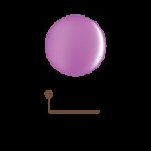 Цветной гель 4D - лиловый лепесток 01