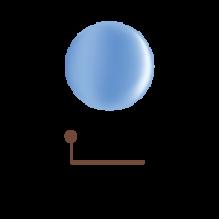 Цветной гель 4D - голубая логуна 03