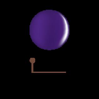 Цветной гель 4D - пурпурный ирис 14
