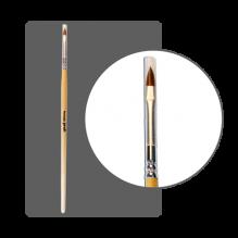 "Кисть колонок для дизайна ""Лепесток"" №3 (7мм) ( арт.14803)"