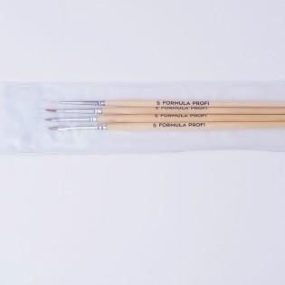 Набор кистей для жостово (4 шт.в уп) арт.15000