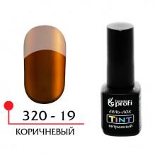 ГЕЛЬ-ЛАК УФ/LED - ВИТРАЖНЫЙ (TINT) №19, ЦВЕТ КОРИЧНЕВЫЙ 5 МЛ.