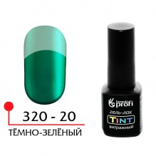 ГЕЛЬ-ЛАК УФ/LED - ВИТРАЖНЫЙ (TINT) №20, ЦВЕТ ТЁМНО-ЗЕЛЁНЫЙ 5 МЛ.