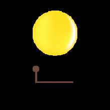 Цветной гель 4D - нежная мимоза 19
