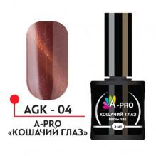 А-Про, Гель-лак УФ/LED - Кошачий глаз №04, 5 мл, арт.AGK-04