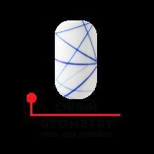 """Гель для дизайна """"GEOMETRY"""", плотный, синий 4,5 гр"""