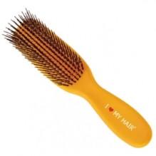 Парикмахерская щетка I LOVE MY HAIR 1503 желтая микро (длина 170см)